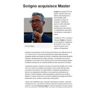 Scrigno acquisisce Master - porteefinestrenews.it